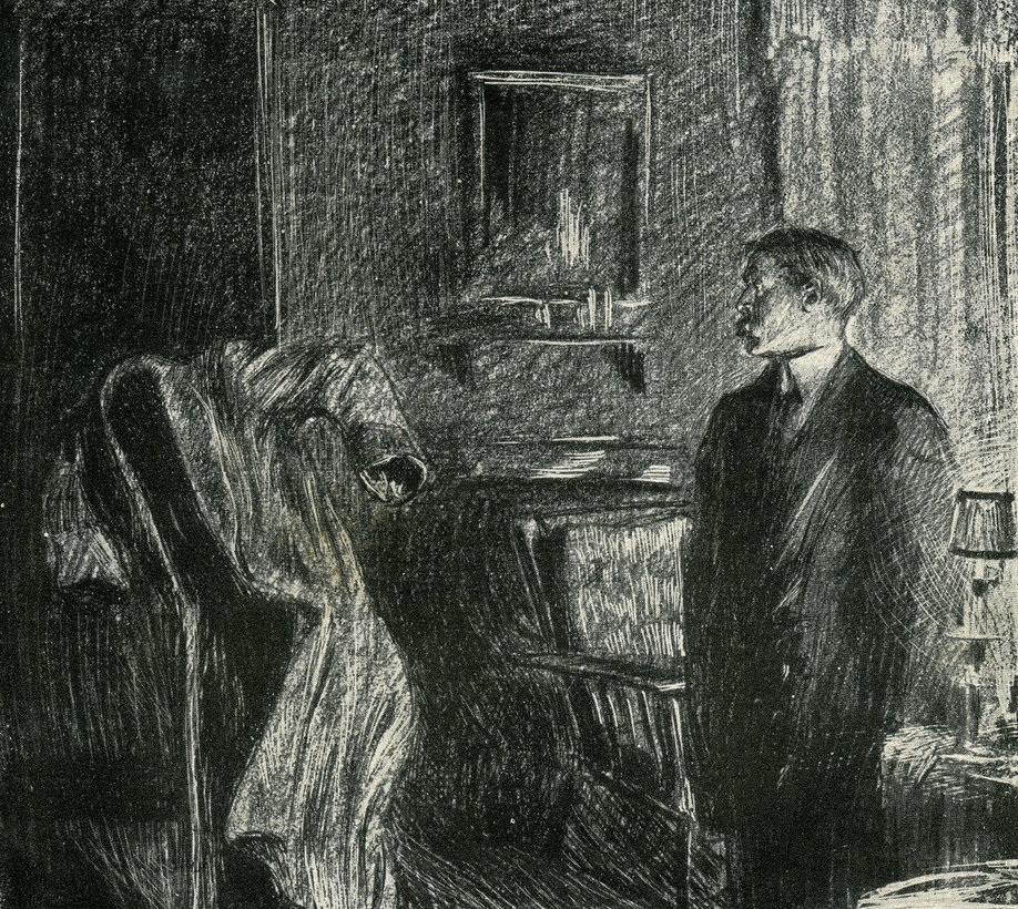 Louis Strimpl illustration from an early edition of The Invisible Man by H.G. Wells.