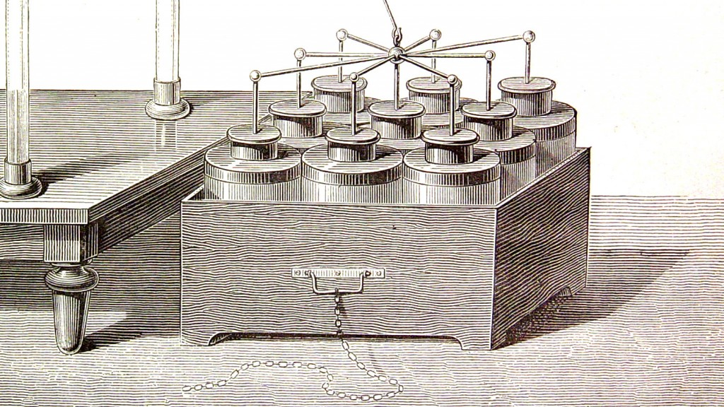 "Benjamin Franklin open sourced an array of Leyden jars and named it a ""battery"""